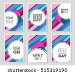 abstract vector layout... | Shutterstock .eps vector #515319190