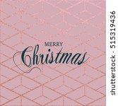 merry christmas. metallic...   Shutterstock .eps vector #515319436