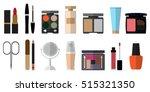 set of flat style beauty... | Shutterstock .eps vector #515321350