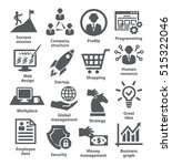 business management icons. pack ... | Shutterstock . vector #515322046
