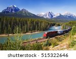 train passing through bow... | Shutterstock . vector #515322646