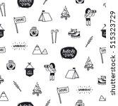 outdoor adventures doodle... | Shutterstock .eps vector #515323729