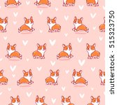 cute corgi seamless pattern on... | Shutterstock .eps vector #515323750