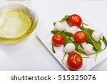 vegetarian raw food plate with...   Shutterstock . vector #515325076