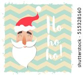 santa claus happy face. cartoon ...   Shutterstock .eps vector #515328160