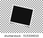 retro photo frame with shadow.... | Shutterstock .eps vector #515334010