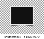 retro photo frame with shadow.... | Shutterstock .eps vector #515334070