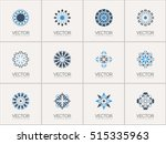 geometric logo template set.... | Shutterstock .eps vector #515335963