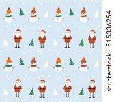 christmas seamless vector... | Shutterstock .eps vector #515336254