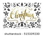 christmas postcard with ... | Shutterstock .eps vector #515339230