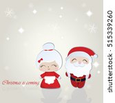 santa and misses claus merry... | Shutterstock .eps vector #515339260