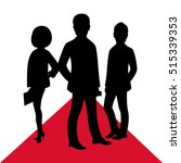 business celebrity silhouette... | Shutterstock .eps vector #515339353