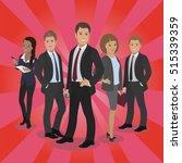 business celebrity silhouette... | Shutterstock .eps vector #515339359