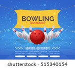 bowling poster vector...