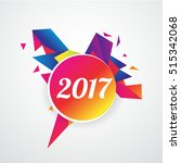 happy new year 2017 layout... | Shutterstock .eps vector #515342068