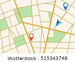 tortuous road  city map with... | Shutterstock .eps vector #515343748