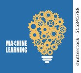 machine learning and artificial ... | Shutterstock .eps vector #515345788