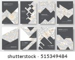 abstract vector brochure cards... | Shutterstock .eps vector #515349484