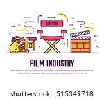 premium quality cinema industry ... | Shutterstock .eps vector #515349718