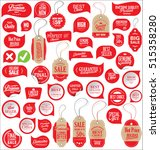 sale stickers tags and labels... | Shutterstock .eps vector #515358280