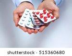 doctor holds the patient's hand ... | Shutterstock . vector #515360680