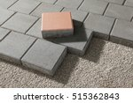 pedestrian path with paver... | Shutterstock . vector #515362843