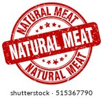 natural meat stamp.  red round... | Shutterstock .eps vector #515367790