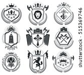 luxury heraldic vectors emblem...   Shutterstock .eps vector #515369746
