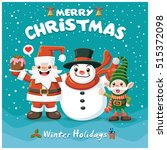 vintage christmas poster design ...   Shutterstock .eps vector #515372098