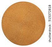 round woven straw mat isolated... | Shutterstock . vector #515372818