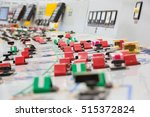 control panel at a nuclear... | Shutterstock . vector #515372824