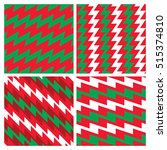 four christmas zigzag patterns... | Shutterstock . vector #515374810