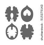 walnut. silhouette. isolated... | Shutterstock .eps vector #515375143