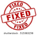 fixed stamp.  red round fixed... | Shutterstock .eps vector #515383258
