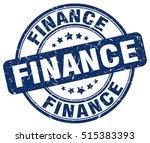 finance stamp.  blue round... | Shutterstock .eps vector #515383393