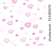 seamless pattern with pink... | Shutterstock .eps vector #515385070
