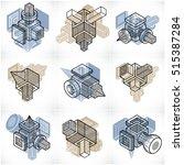 abstract vectors  3d simple... | Shutterstock .eps vector #515387284