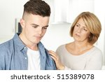 mother worried about unhappy... | Shutterstock . vector #515389078