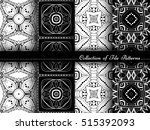 vector collection of black and... | Shutterstock .eps vector #515392093