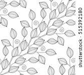 monochrome seamless pattern... | Shutterstock .eps vector #515392180