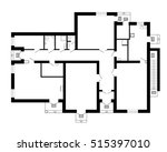 modern office floor plan... | Shutterstock .eps vector #515397010