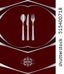 menu card design template ... | Shutterstock .eps vector #515400718