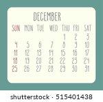 December 2016 Monthly Calendar...