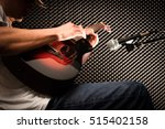 musician playing acoustic... | Shutterstock . vector #515402158