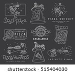 vector space pizza hunters... | Shutterstock .eps vector #515404030
