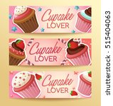 cupcake elements   horizontal... | Shutterstock .eps vector #515404063