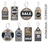set of sale tags isolated on... | Shutterstock .eps vector #515404114