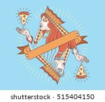 concept of a lady queen... | Shutterstock .eps vector #515404150