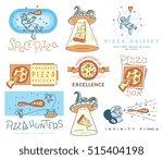 vector space pizza hunters...   Shutterstock .eps vector #515404198
