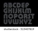 letters of the alphabet in the... | Shutterstock .eps vector #515407819